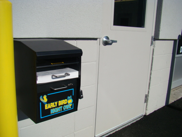 Early Bird Night Owl Key Drop Box For Service Welcome To