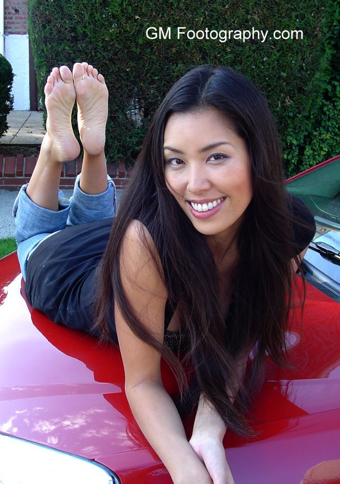 image Sexy candid asian feet and legs in flip flops