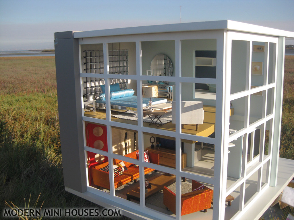 Dylan Modern Dollhouse Dylan House 3 4 Scale
