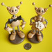 Robot Wedding Cake Topper   Neutral Lightly Rustic Neutral Shades