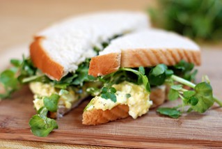 Eggsalad on white with watercress | by tiffanycsteinke