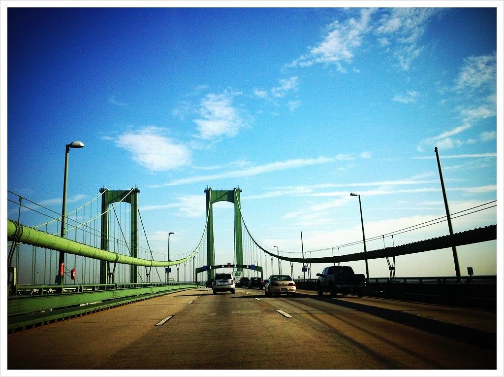 Delaware Memorial Bridge  Taken With Picplz At Delaware