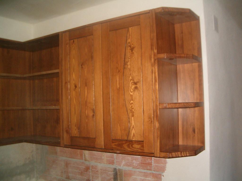 Mueble alto cocina mueble alto de cocina en pino tintado - Mueble alto cocina ...