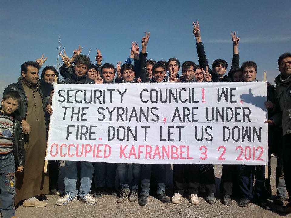 Security Council, The Syrians, Are Under Fire. Don't Let Us Down | by FreedomHouse