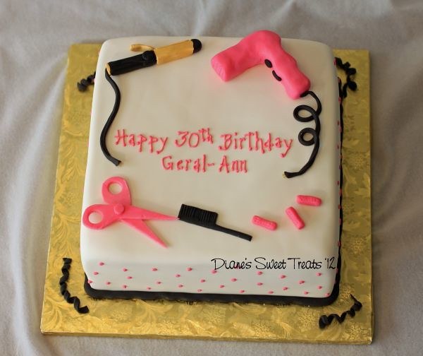 Cake For A Hairdresser The Colors For The Party Are