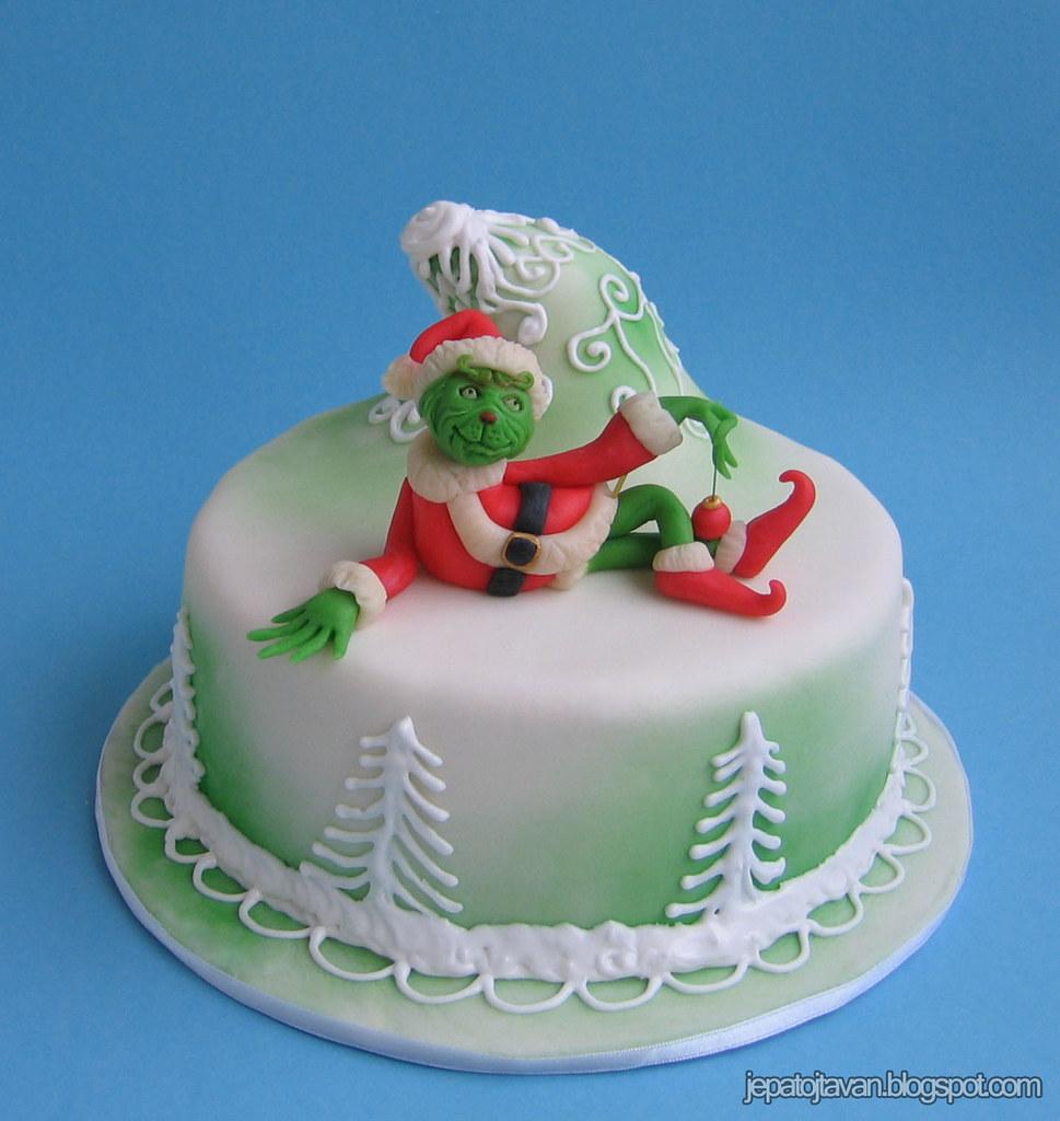 Grinch Birthday Cake
