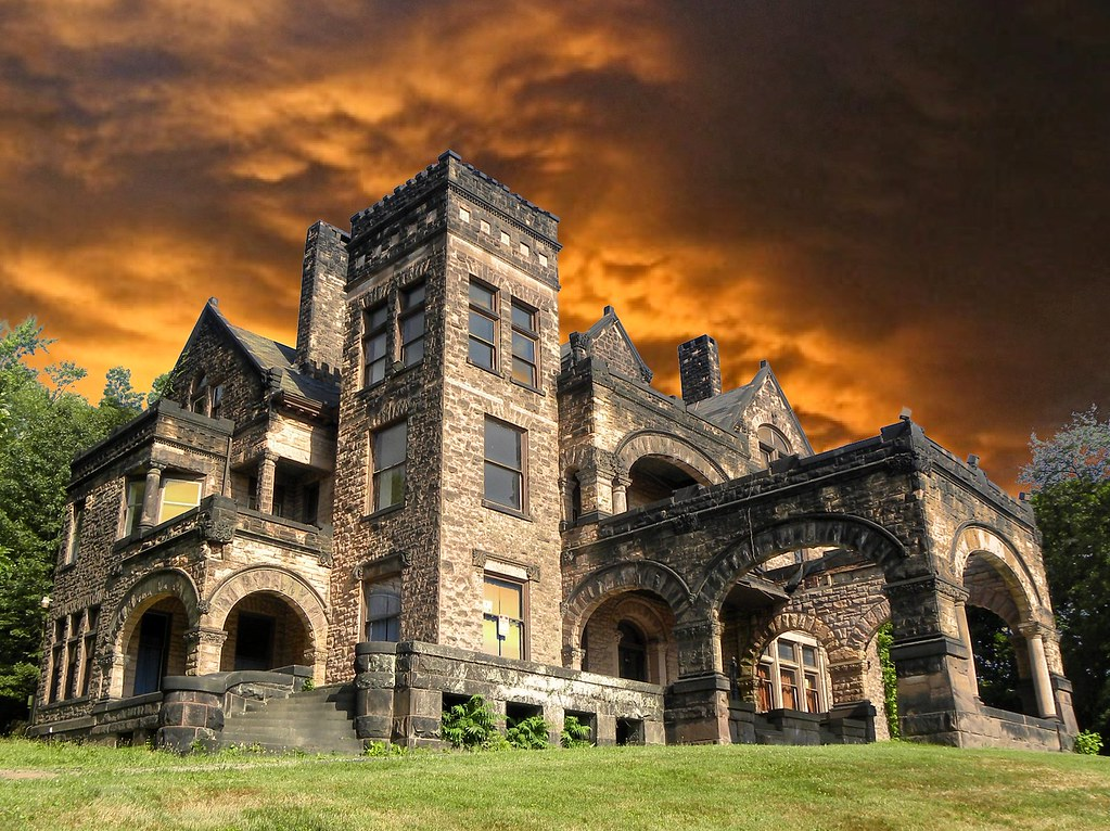 Sharon PA ~ Victorian Stone Mansion on The Hill | This ...