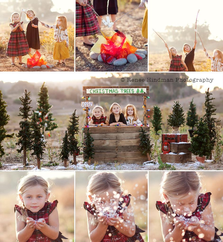 My Christmas Card Shoot Christmas Tree Lot With A San