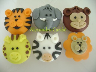 Cupcake bichinhos de selva - Jungle cupcakes (animals) | by Alexandra Bolos Artísticos