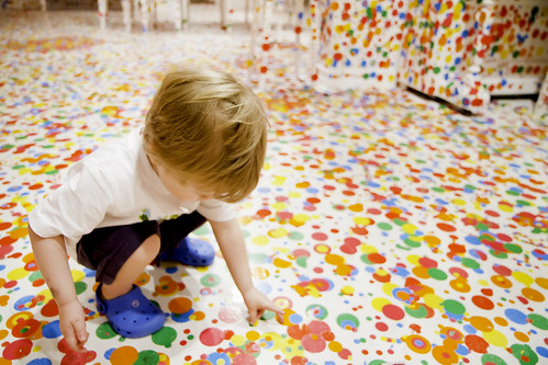 Some more Dots.. - Yayoi Kusama's 'The obliteration room' | by Stuart Addelsee