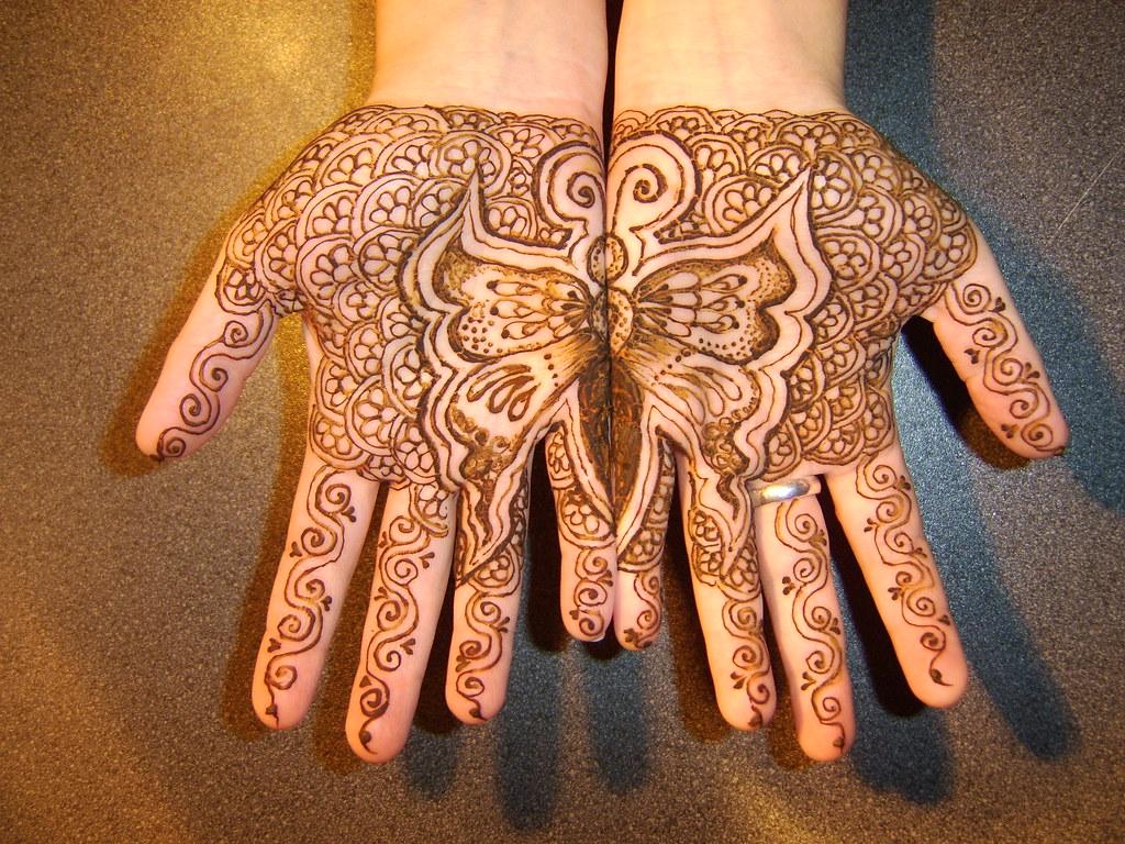 Butterfly Henna Tattoo Designs: Henna By Hand Of Fatima 2003-2012
