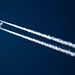 Emirates Boeing 777 at FL 360 From Dubai to Glasgow (A6-EBS)Contrailshot