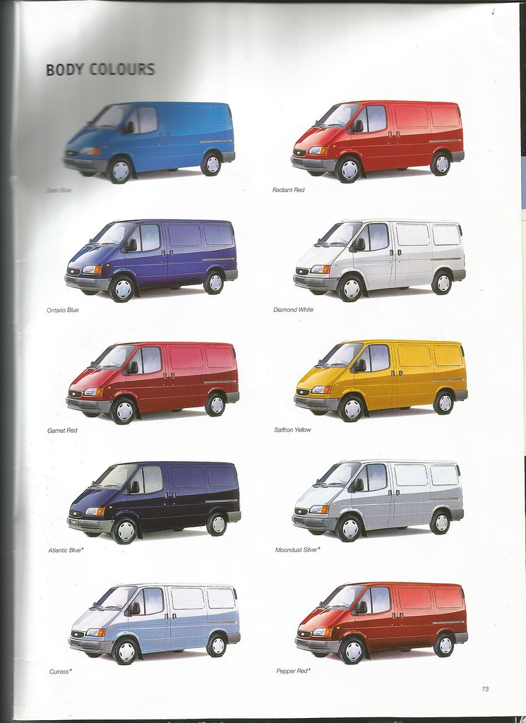Ford transit colours i decided to follow the example of ot flickr