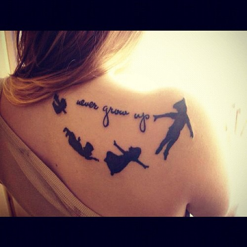 never grow up peterpan tinkerbell lostboys tattoo
