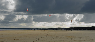 Kites at South Beach, Bridlington, East Yorkshire. By Thomas Tolkien | by Thomas Tolkien