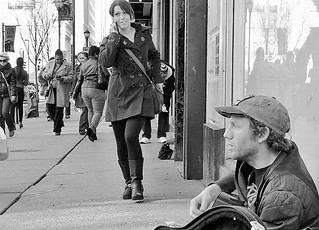 Busker & Cute Girl | by Charlie O'Hay