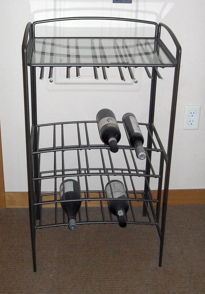 Crate Amp Barrel Wine Rack This Metal And Glass Wine Rack