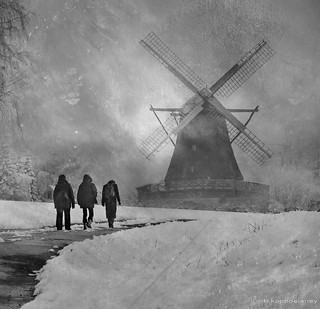 Windmill in Winter | by h.koppdelaney