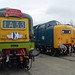 D9009 Alicydon D9000 Royal Scots Grey  & 55002 Kings Own Yorkshire Light Infantry