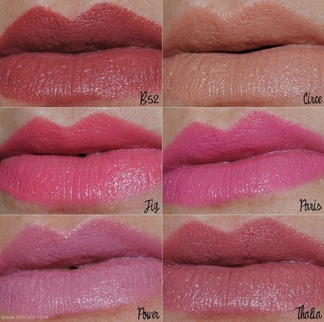 NYX Round Lipstick Swatches | www.nihrida.com | nihrida ...