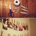 clothes pin photo wall