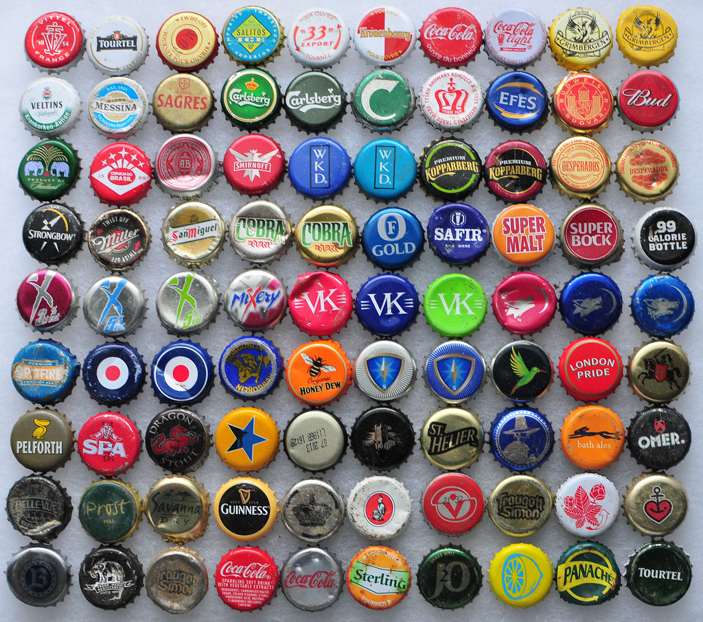 British And French Found Bottle Caps I Was Amazed I