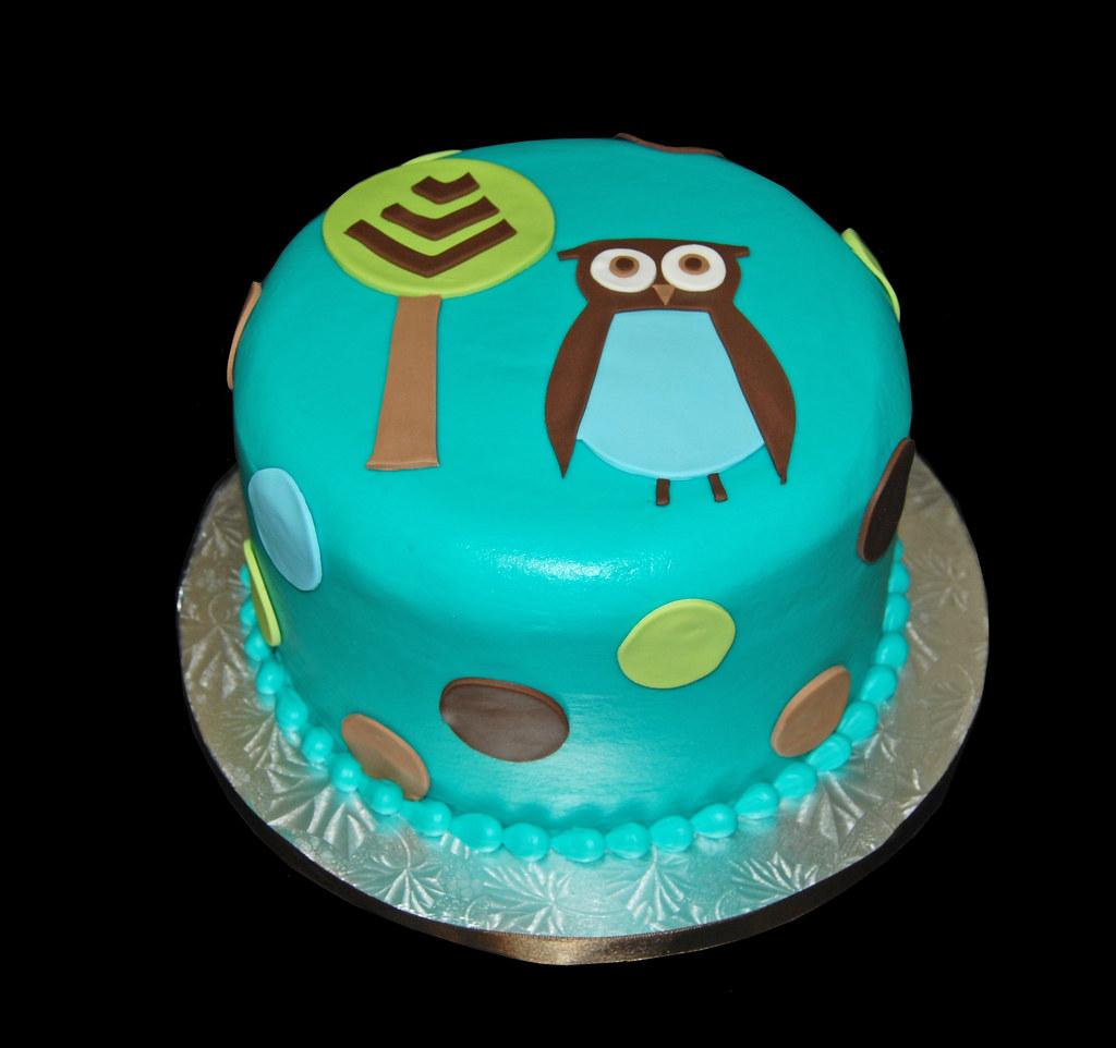Owl Themed Baby Shower Cake Themed Baby Shower Cake