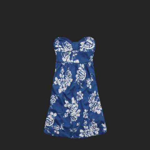 Abercrombie Fitch Women Floral Dress Blue