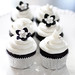 Simple black and white mini cupcakes