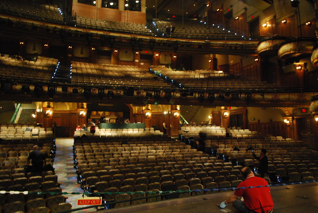New Amsterdam Theater New York The View From The Stage