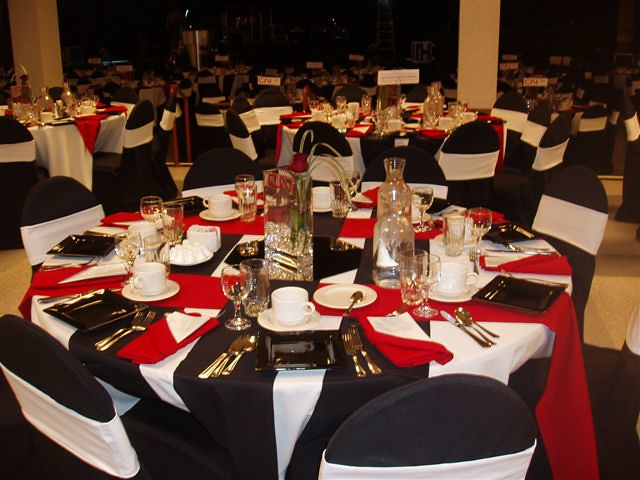 White Black And Red Wedding Decor