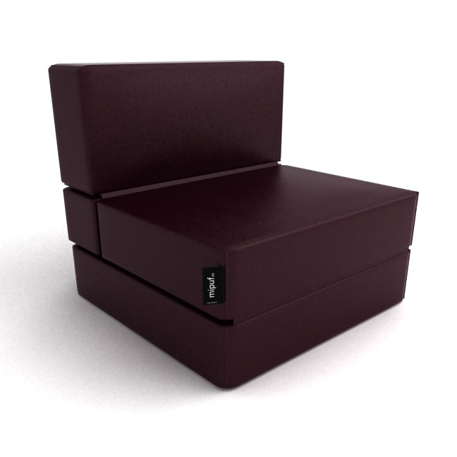 Puff cama convertible chocolate al concepto de - Puff convertible cama ...