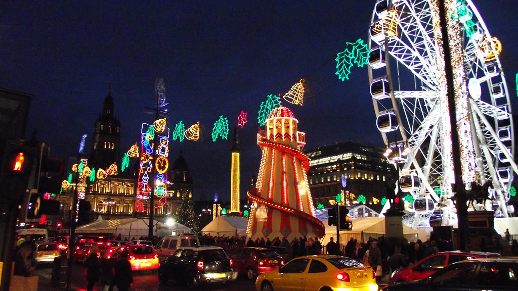 George Square Glasgow Christmas 2011 On The Way To The
