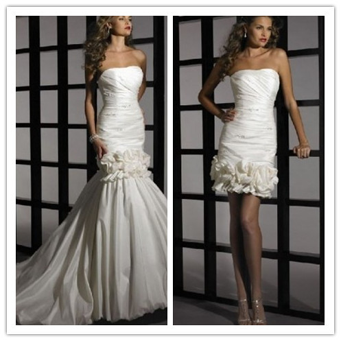 strapless mermaid 2 in 1 wedding dress 1 strapless flickr