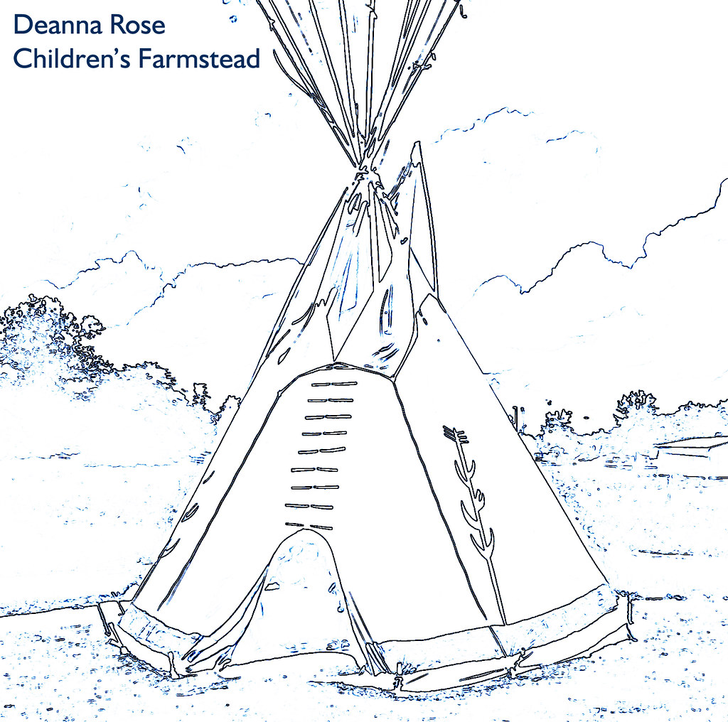 tepee coloring pages - photo#11