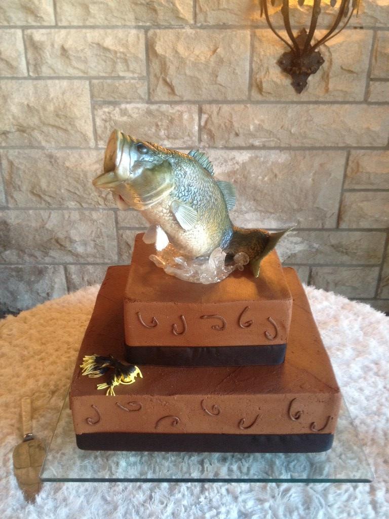 Bass Fish Cake Topper