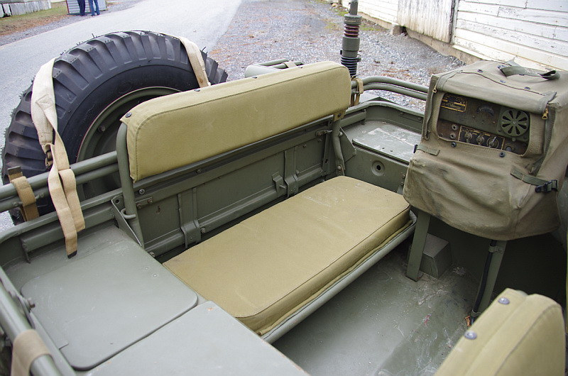 Us Army Willys Mb Rear Seat Battle Of The Bulge At Fort