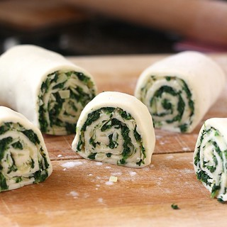 Spinach Gruyere Puff Pastry Pinwheels | by Tracey's Culinary Adventures