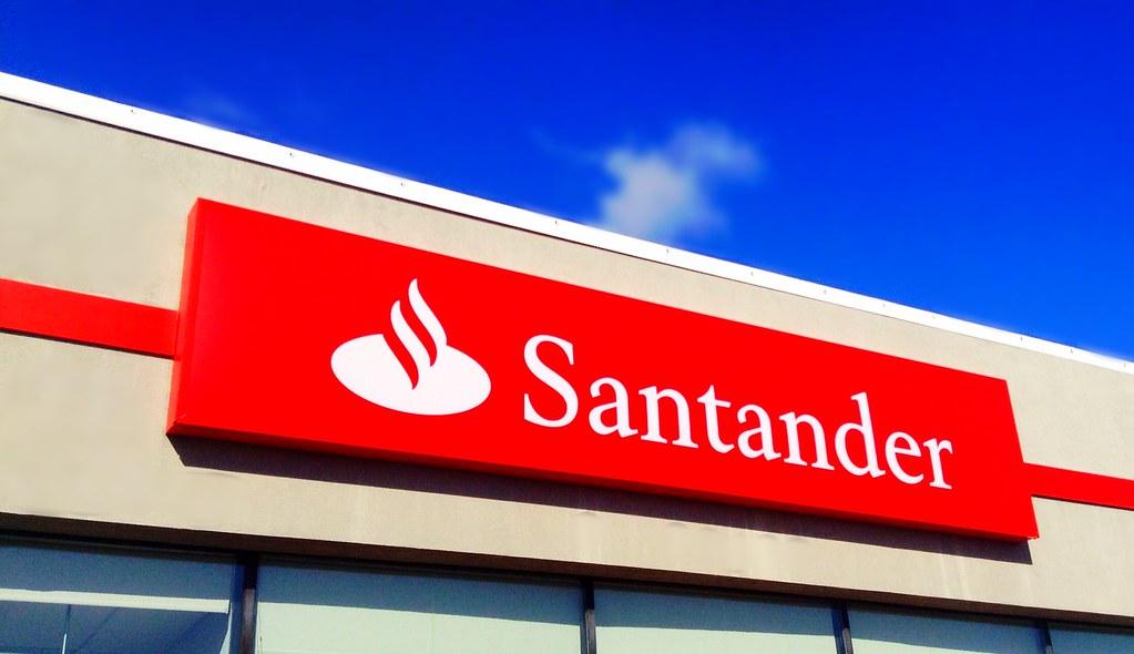 Santander bank santander bank sign logo facade exterior - Be up santander ...