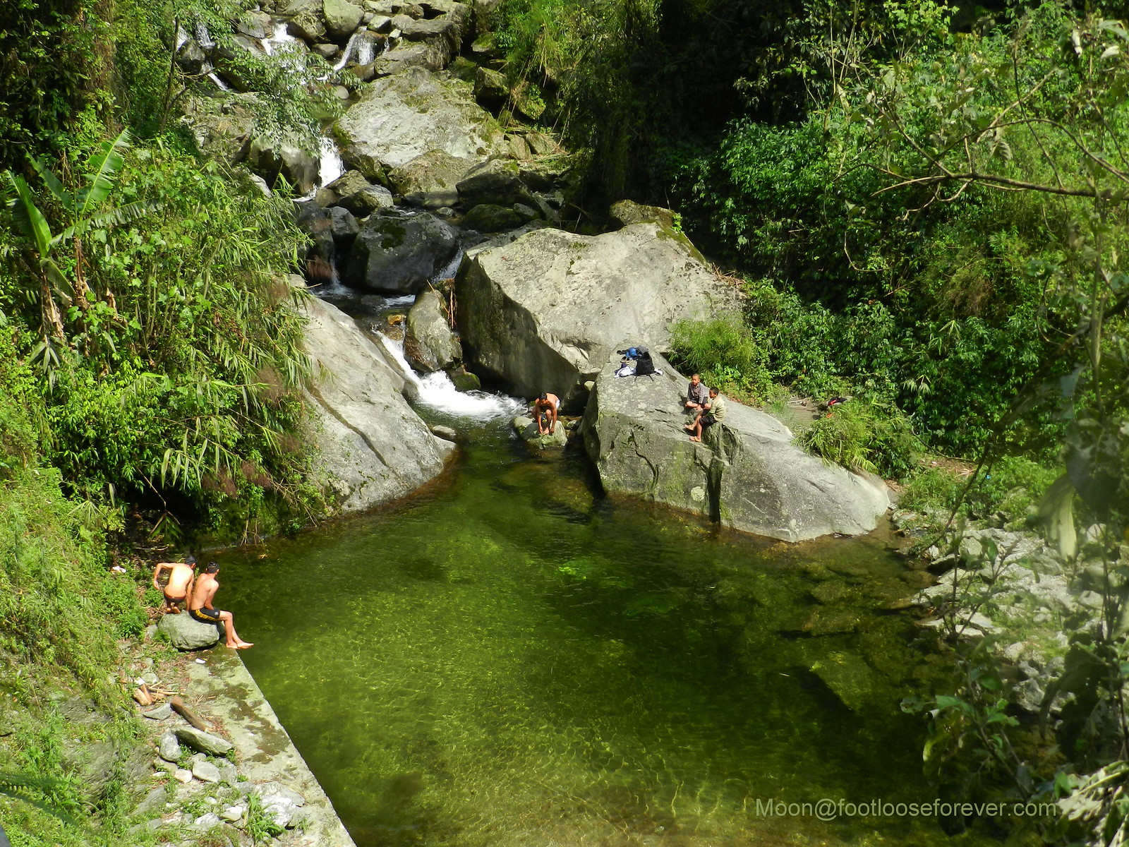 waterfall, natural pool, lachung, sikkim