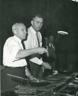 Roland R. Renne Flips a Pancake | by Montana State University Library