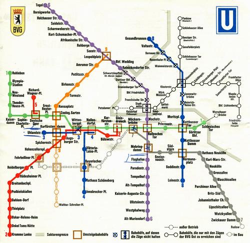 Berlin s Bahn u Bahn Netz Berlin U-bahn / Subway