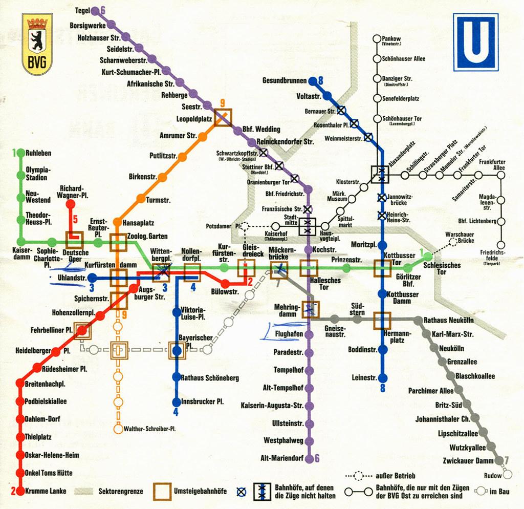 U-bahn Map Berlin Printable Berlin – U-bahn / Subway Map