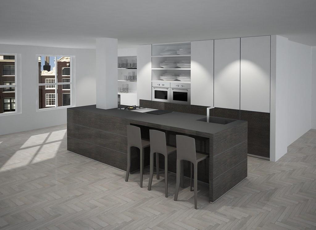 Keuken eiland voorbeeld  Een modern keuken eiland ontwerp T ...