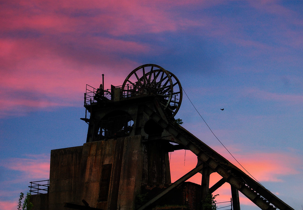 Pleasley Colliery A Near Silhouette Of The Former Pit At