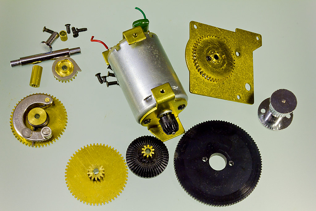 Mini electric motor and gearbox parts of a power winder for Small electric motor parts