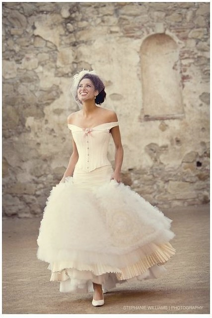 Wedding dress dresses inspiration corset white for Fluffy skirt under wedding dress
