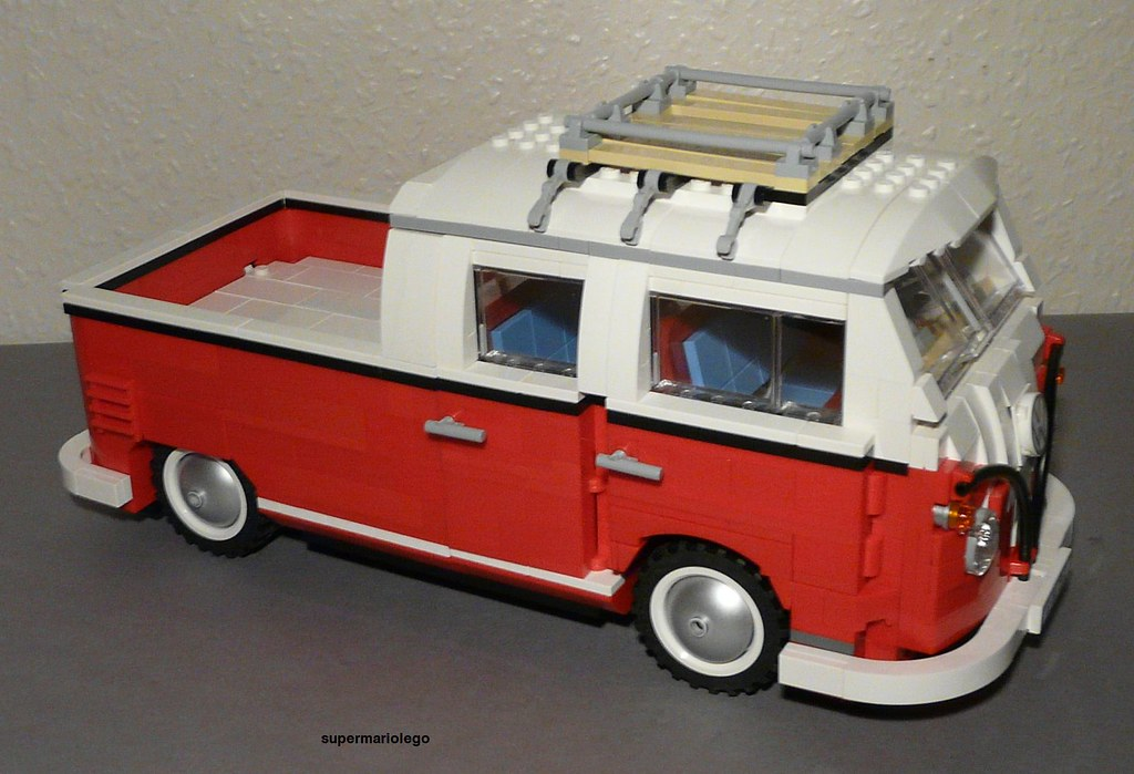 lego vw t1 doka lego vw t1 doka transporter made of lego 1 flickr. Black Bedroom Furniture Sets. Home Design Ideas