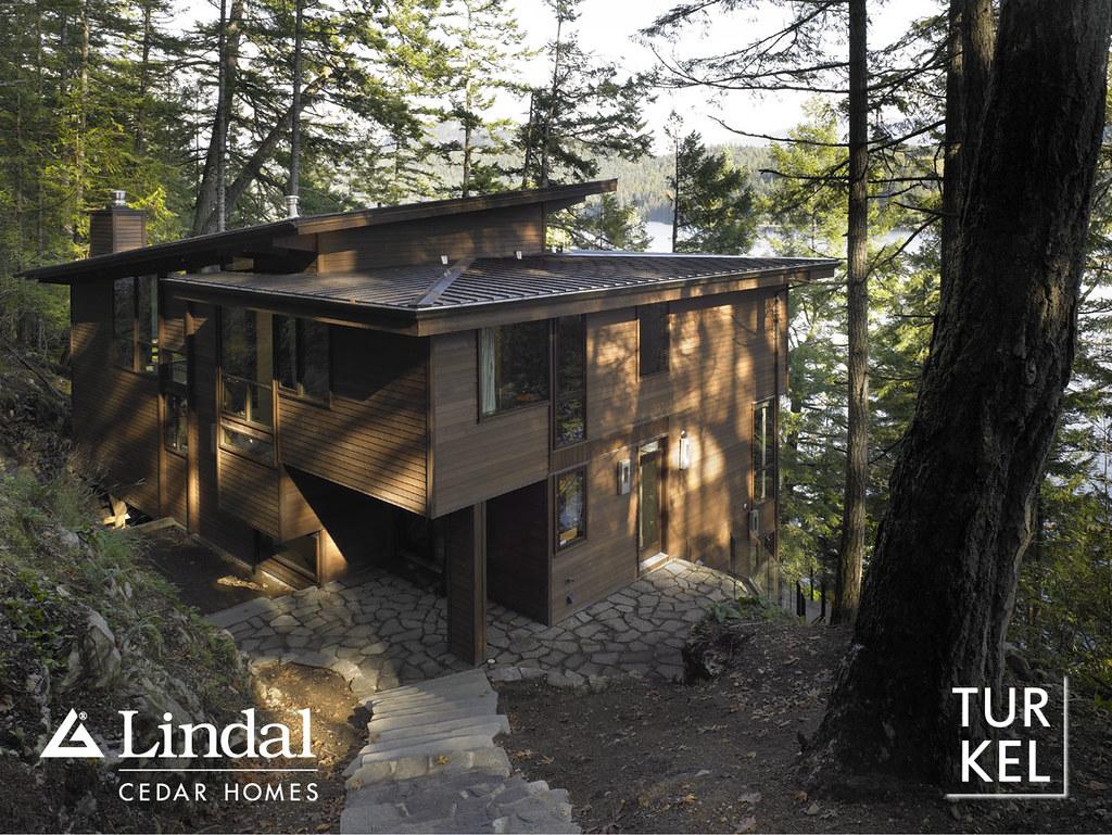 Exterior entry side lindal cedar homes flickr for Lindal cedar home plans