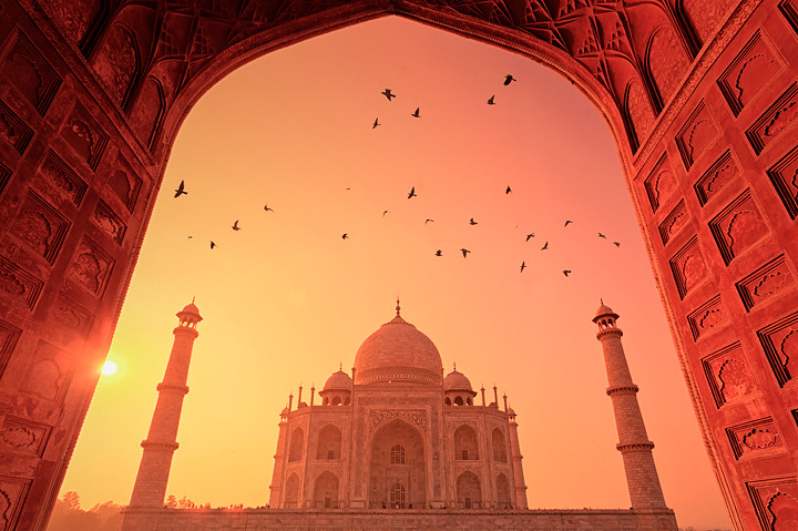 Taj Mahal, Sunset | Taj Mahal, Sunset, agra, india, icon ...